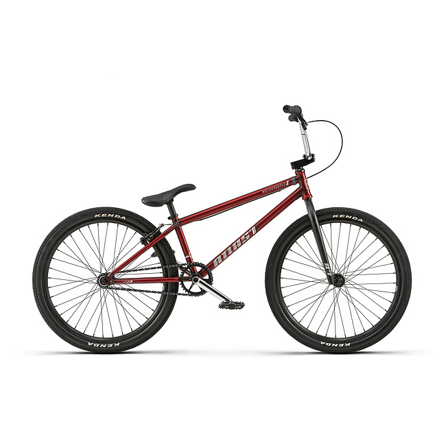 wethepeople 2018 THE ATLAS 24 Komplettrad matt transparent rot 21.75'' Kassettennabe