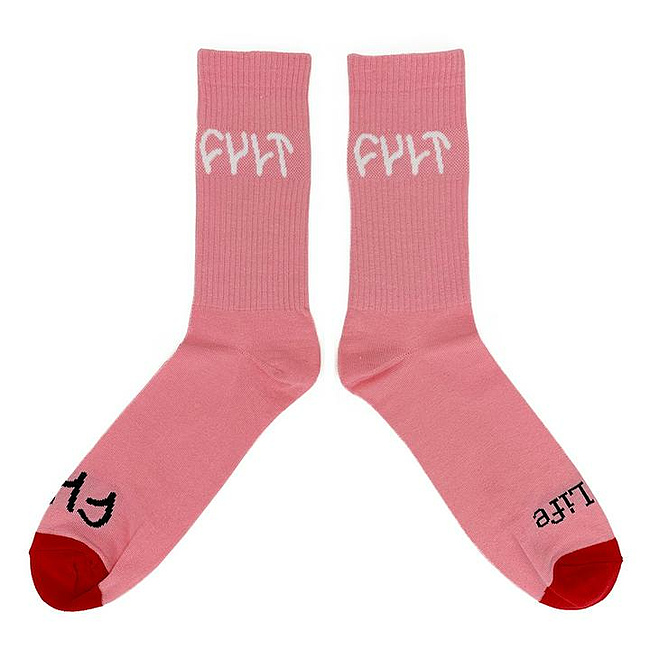 Cult LOGO Socken pink one size fits most
