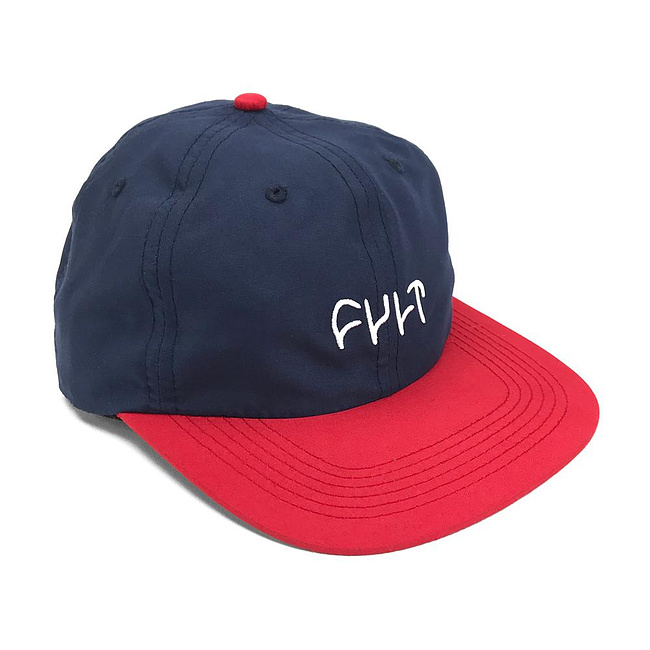 Cult LOGO UNSTRUCTURED 6-Panel Mütze navy/rot größenverstellbar