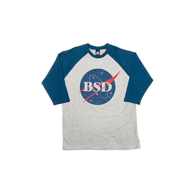 BSD SPACE AGENCY Baseball Shirt navy/heather grau XL