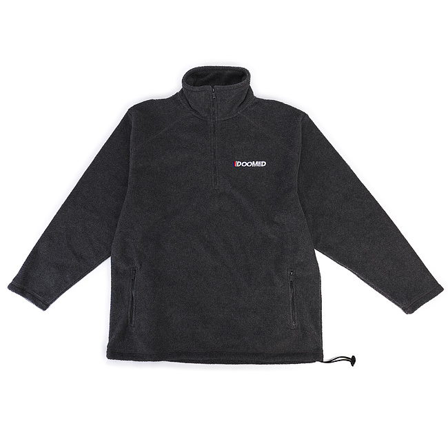 Doomed THE END Half-Zip Micro Fleece Jacke