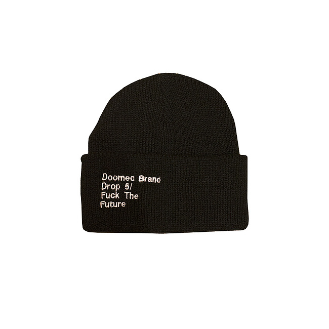 Doomed FUCK THE FUTURE Beanie schwarz one size fits most