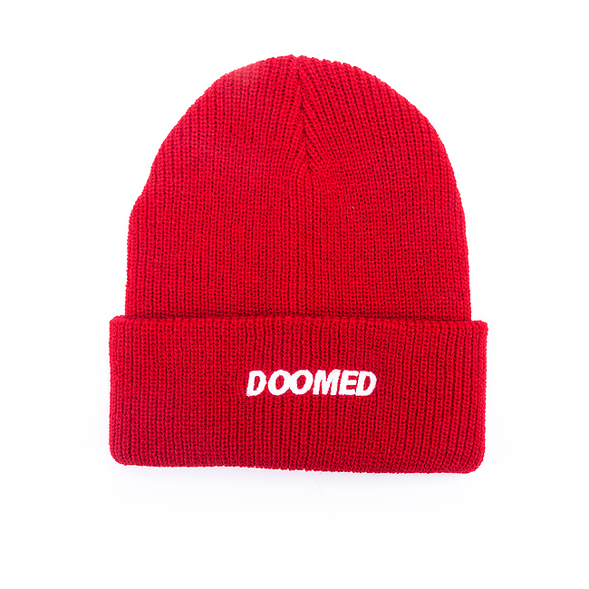 Doomed DER Beanie rot one size fits most