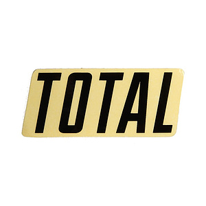 Total NEW STYLE LOGO Sticker