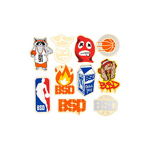 BSD 10 PACK 2018 Sticker Set diverse