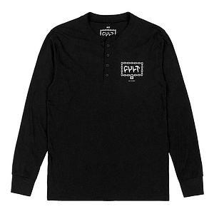 Cult THROW AWAY THE KEY Henley Longsleeve