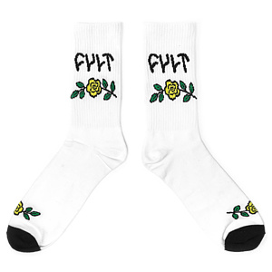 Cult IN BLOOM Socken weiss one size fits most