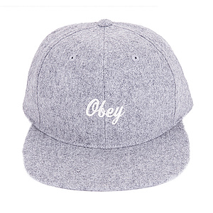 OBEY WALTER Cap heather grau one size fits most