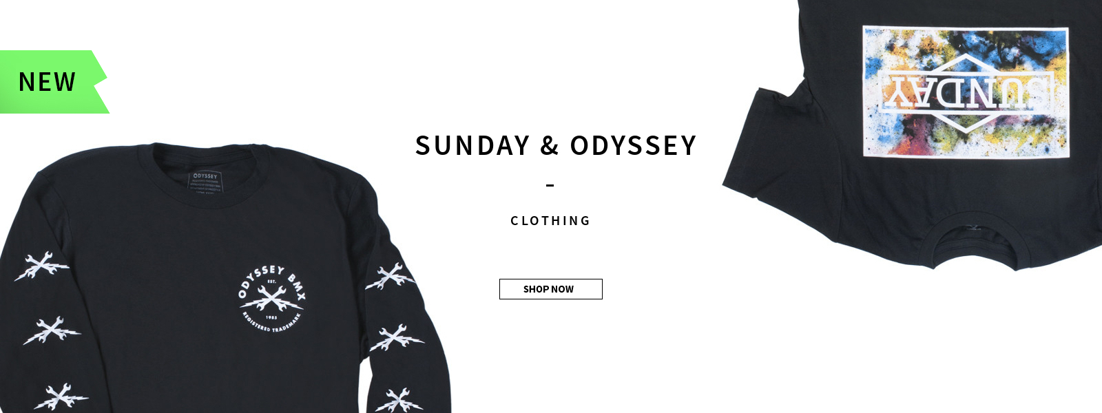 New Sunday & Odyssey Clothing - Now at www.peoplesstore.de
